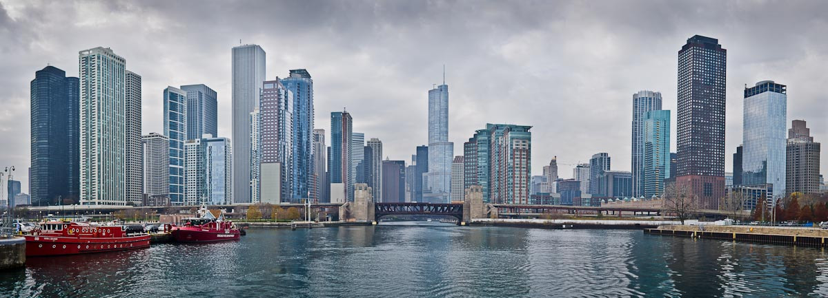 Photograph Chicago Skyline from the Chicago River by Ort Baldauf on 500px