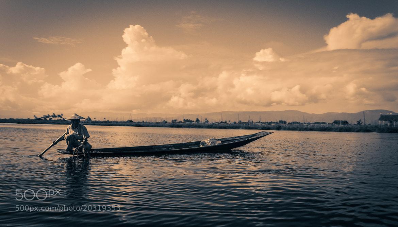 Photograph Fisherman at Inle Lake (Burma/Myanmar) by Armand L'Ortije on 500px