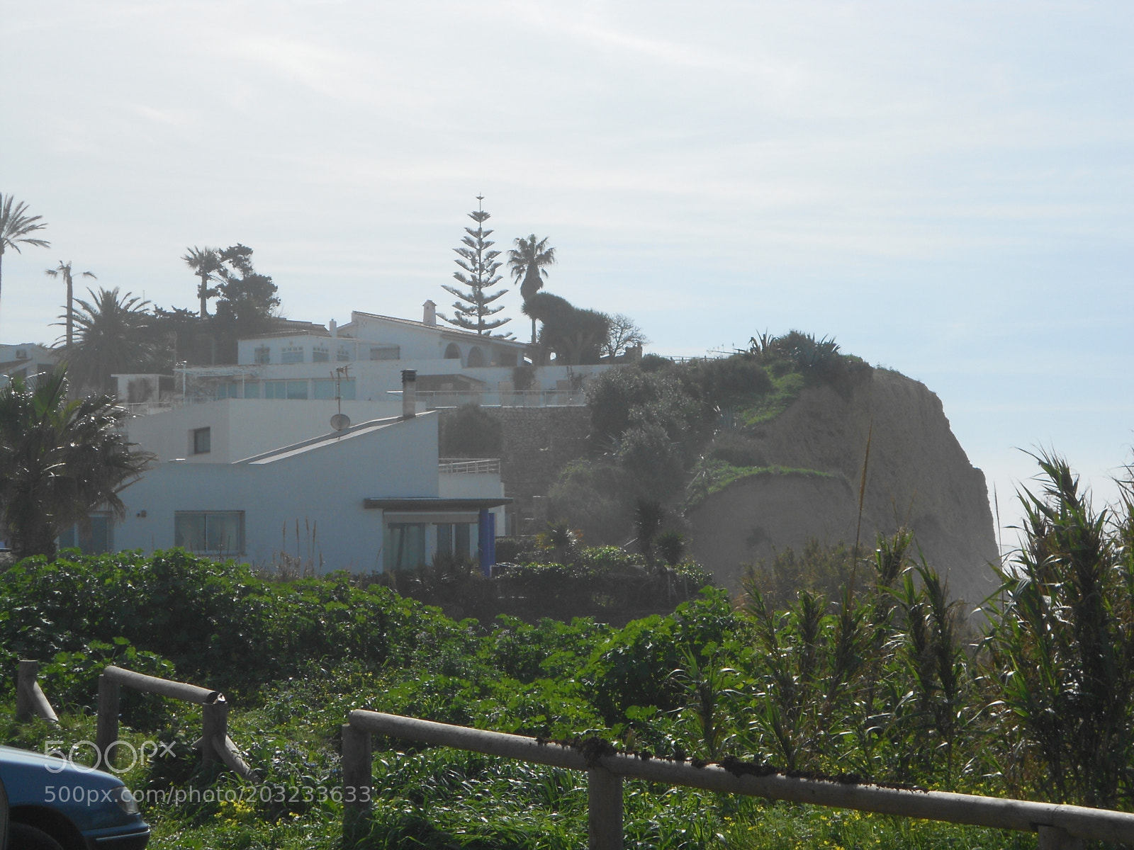 """Nikon COOLPIX S4150 sample photo. """"Cliff with white houses"""" photography"""