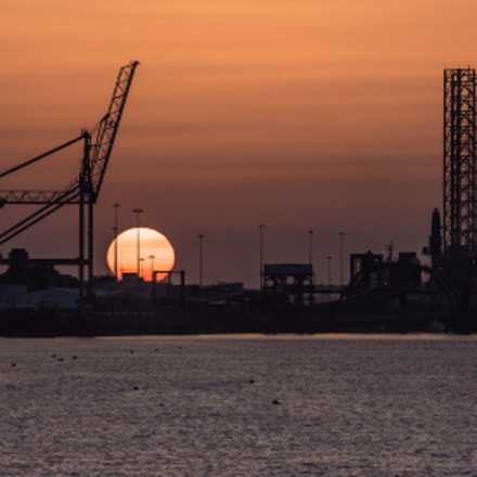 Industrial Sunset At Harwich