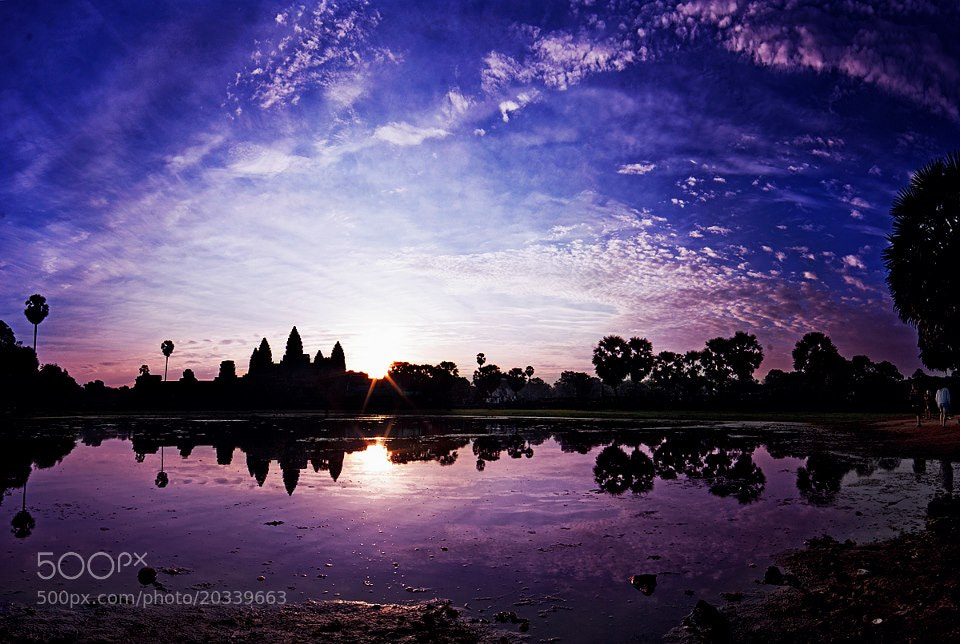 Photograph Angkor wat- reflection by Pe Yeu on 500px