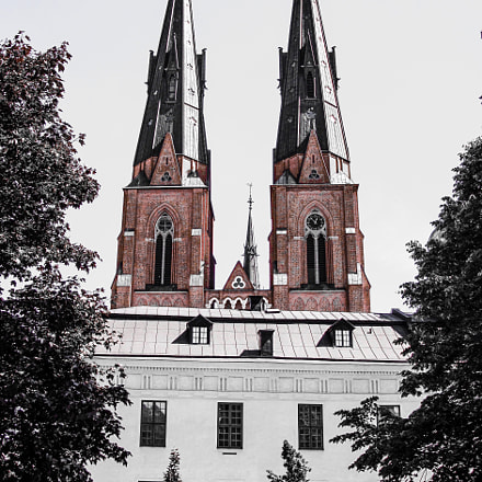 The cathedral. Uppsala. Sweden, Canon POWERSHOT A2100 IS