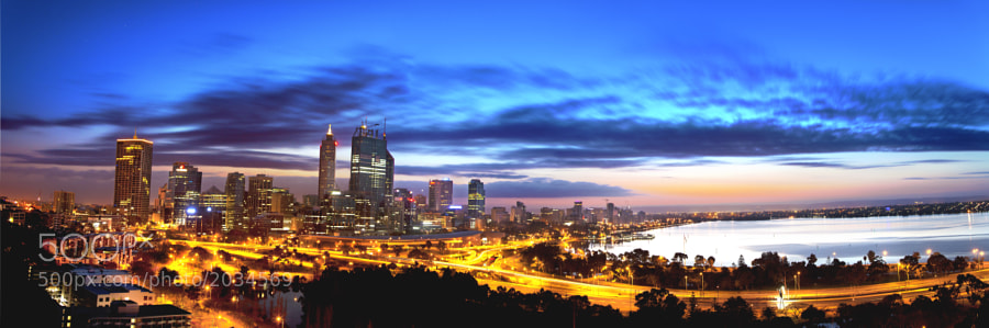 Perth, Western Australia at Sunrise <br />from Kings Park