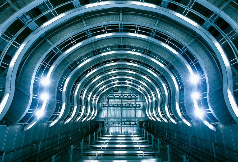 Llefià - underground station in Badalona