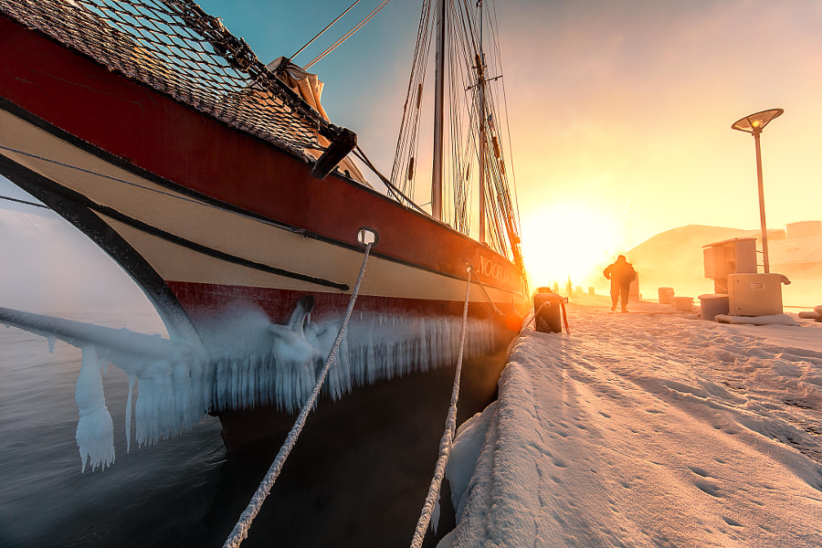 Sunrise at the harbour by Paal Uglefisk Lund on 500px.com