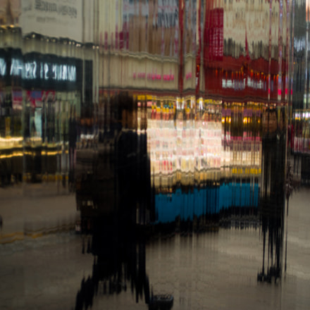 Reflection of Street walkers, RICOH PENTAX K-1, smc PENTAX-FA 35mm F2 AL