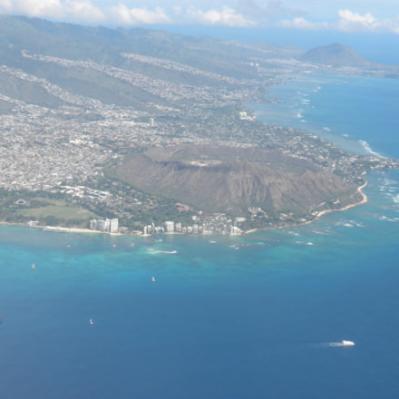 Honolulu from the Air, Nikon COOLPIX S630