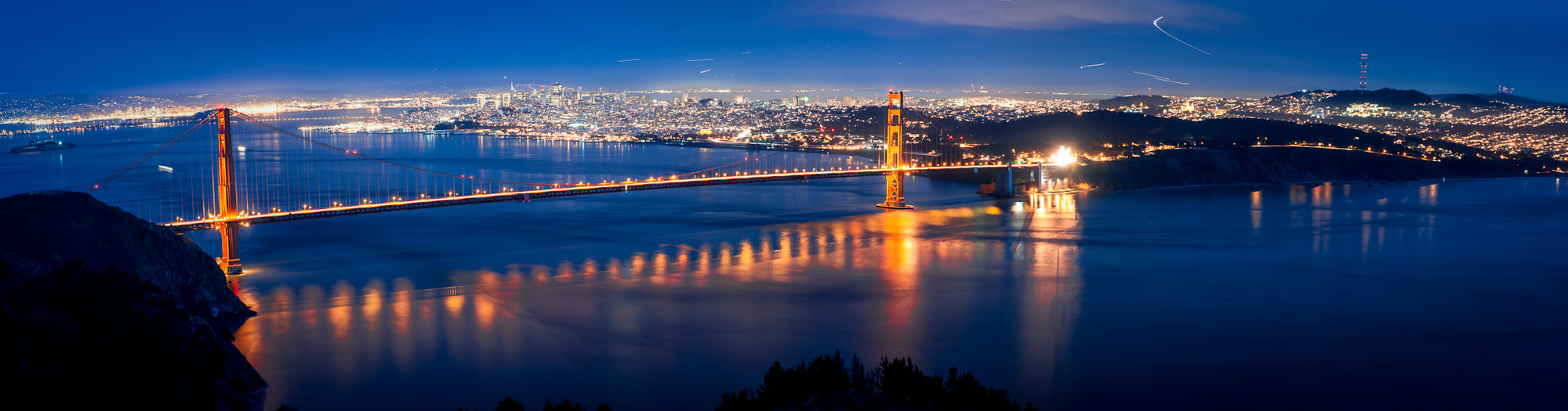 Photograph The Golden Gate at Dusk, Marin Headlands by Craig Hudson on 500px