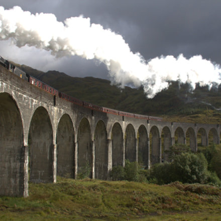 Glennfinnan Viaduct, Canon EOS KISS X2, Canon EF-S 18-200mm f/3.5-5.6 IS