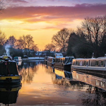 Canal Sunset, Canon EOS 60D, Tamron AF 18-270mm f/3.5-6.3 Di II VC LD Aspherical [IF] Macro