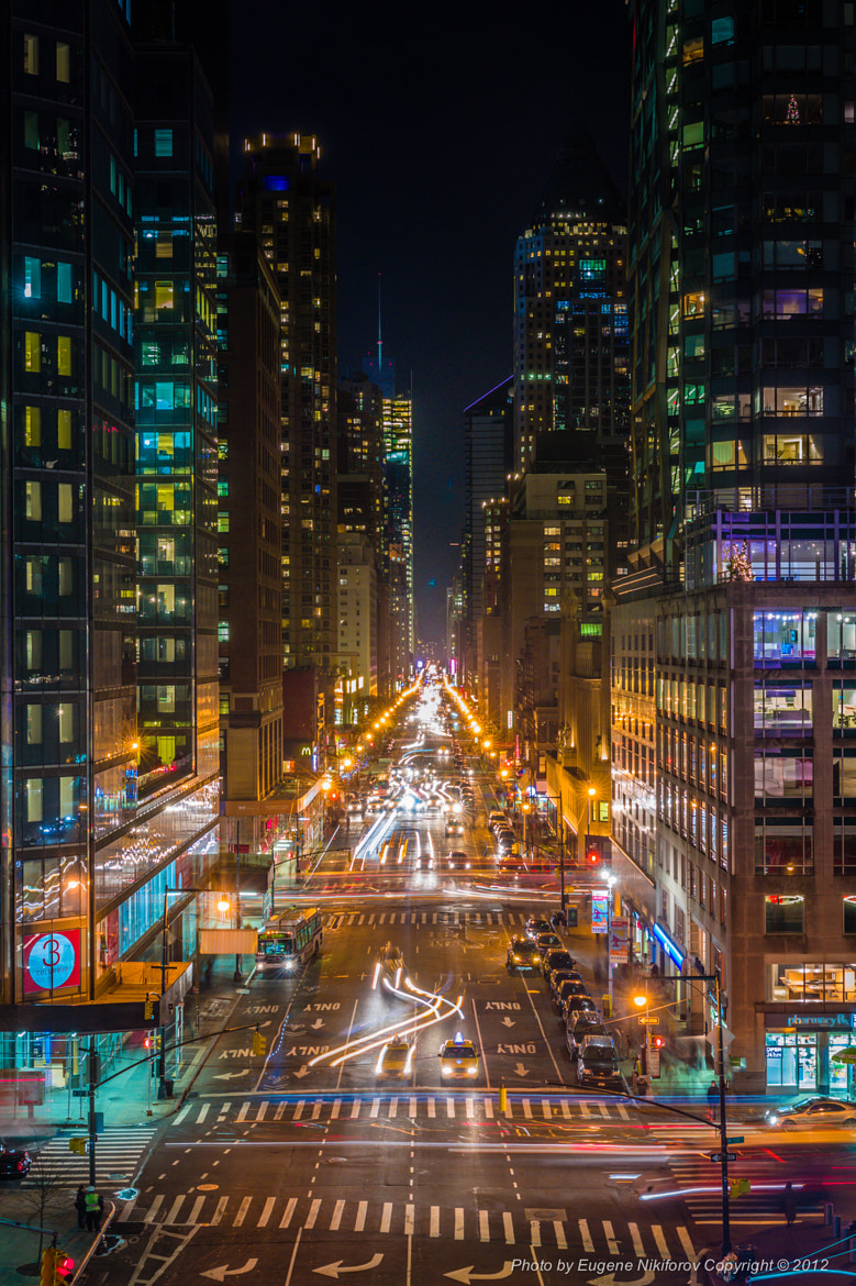 Photograph This this what Columbus statue sees at night, 8th Avenue, Manhatttan by Eugene Nikiforov on 500px