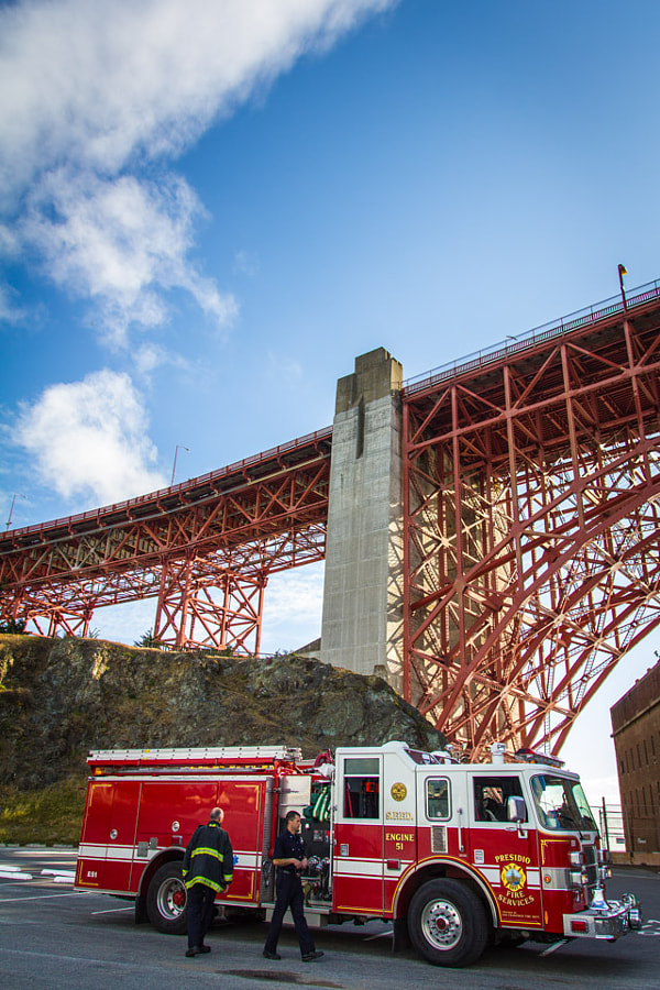 San Francisco Fire Department at the Golden Gate