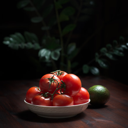 tomatos on the table, Nikon D800, PC-E Micro Nikkor 85mm f/2.8D