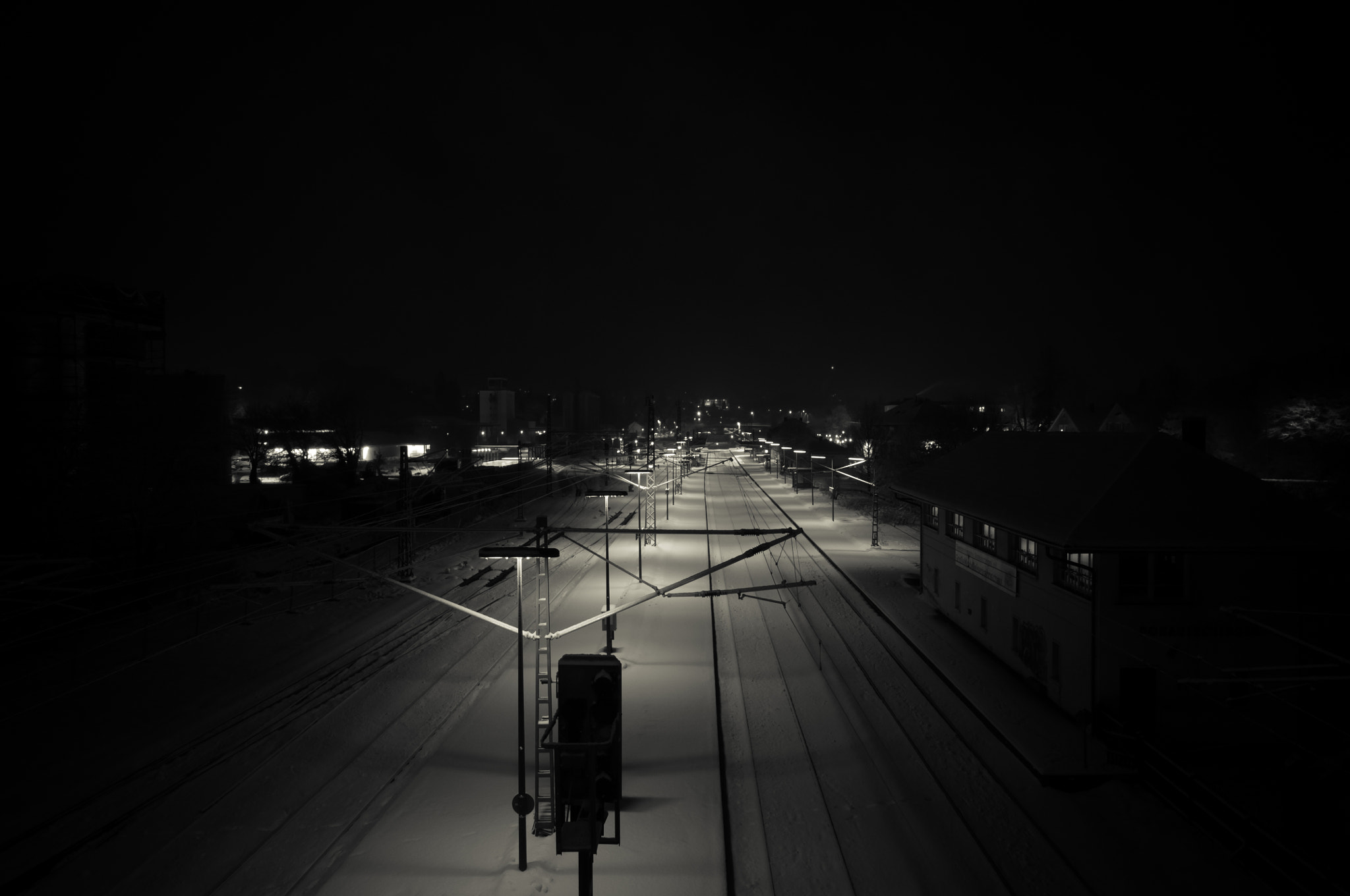 Photograph Train station in winter by Nils Zajac on 500px