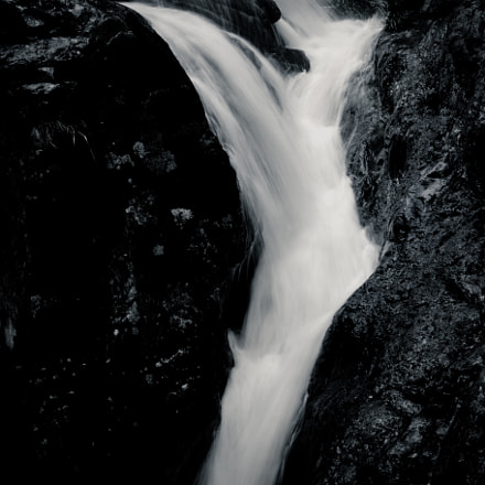 b/w waterfall, Sony DSC-RX10M2, 24-200mm F2.8