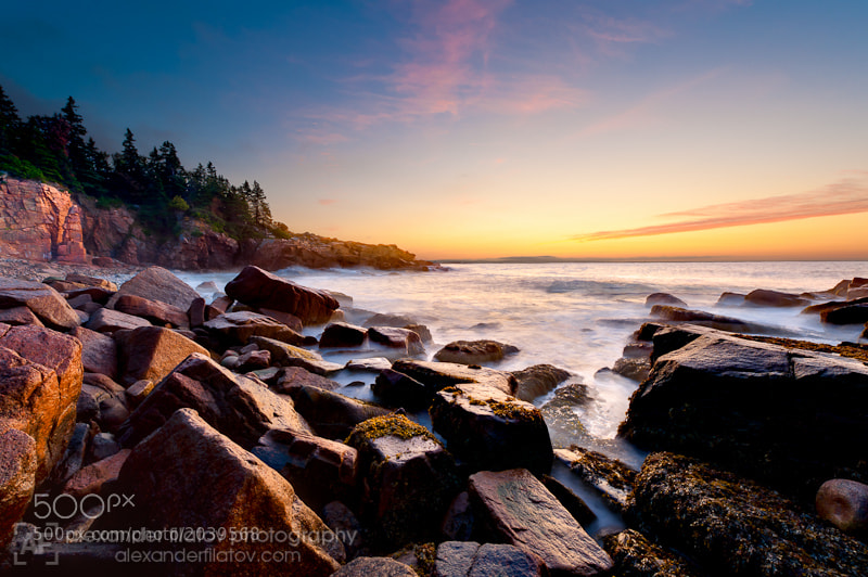 Photograph First Light at Monument Cove by Alex Filatov | alexfilatovphoto.com on 500px