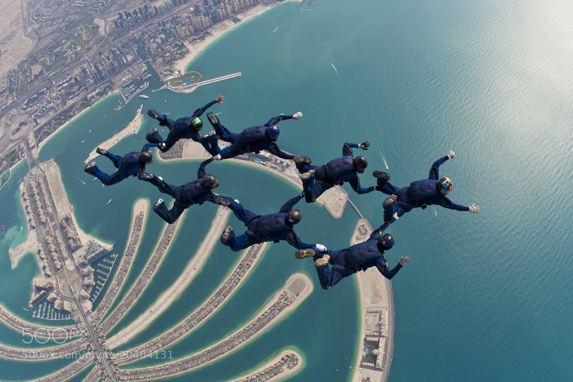 Photograph skydive, Dubai, world parachuting championships,  by Rodrigo Kristensen on 500px