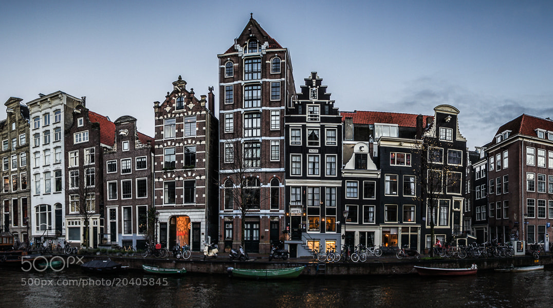 Photograph Houses along Herengracht by Victor Lan on 500px
