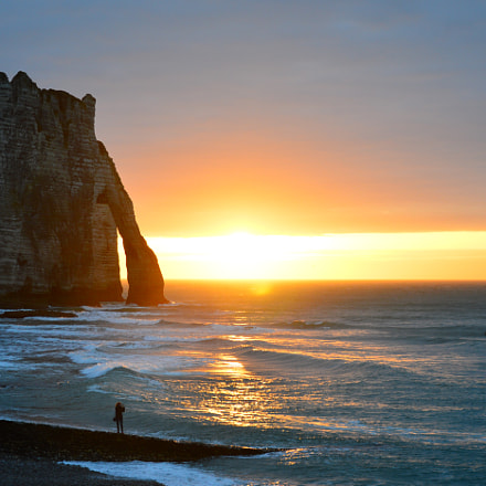 Etretat - Last Sunset of Winter
