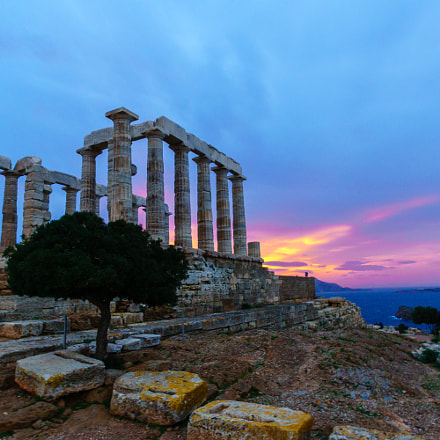 sunset @ Cape Sounio, Sony ILCA-77M2, Tamron SP AF 10-24mm F3.5-4.5 Di II LD Aspherical IF
