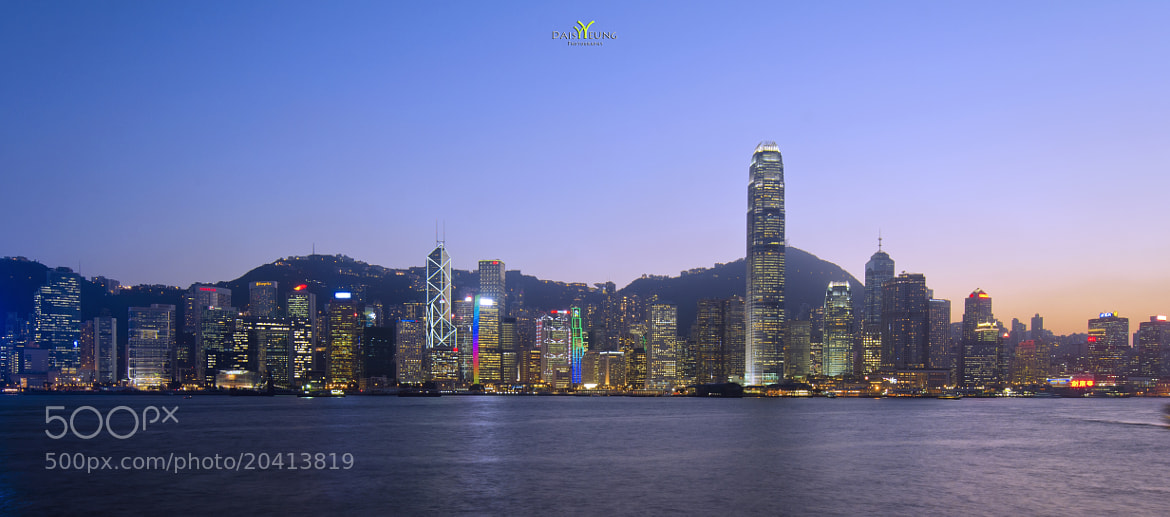 Photograph Hong Kong Island Skyline Right After Sunset by Daisy Yeung on 500px