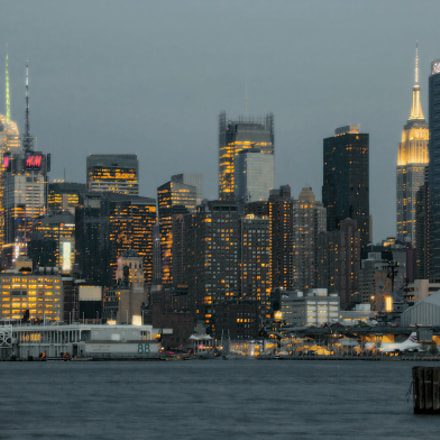 Twilight in Manhattan, Canon EOS 70D, Canon EF 75-300mm f/4-5.6 IS USM