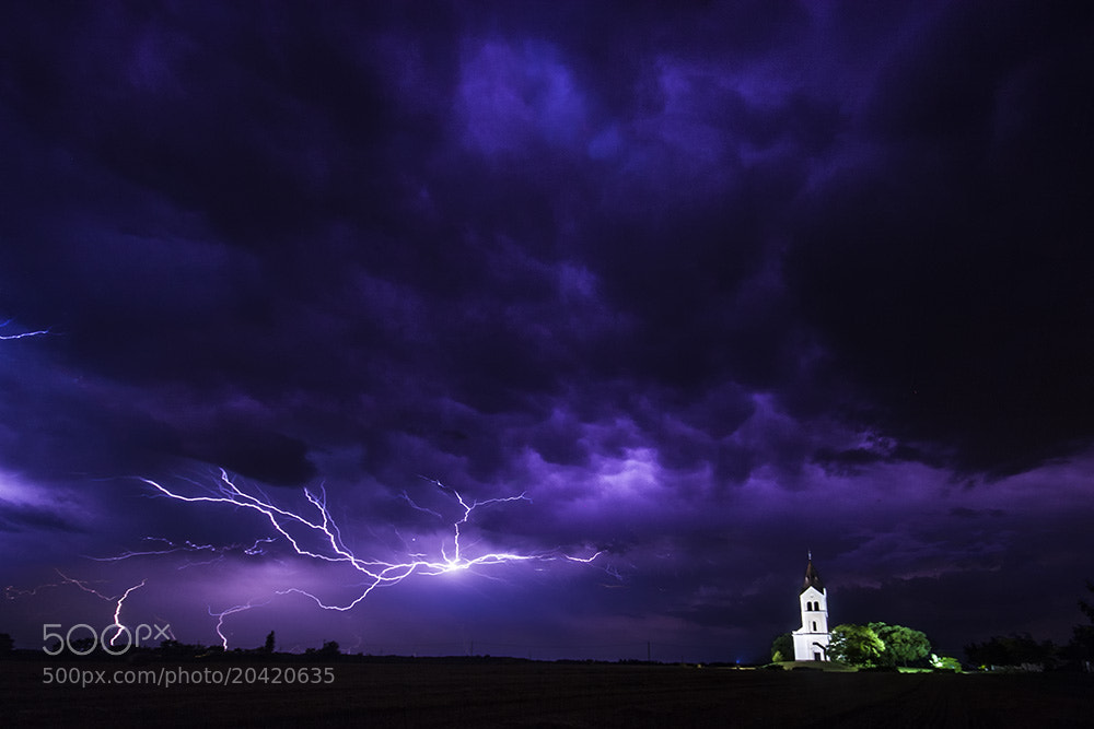 Photograph Lightning and church by F Levente on 500px