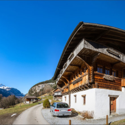 Typical alpine house. Switzerland, Sony SLT-A99, Minolta/Sony AF 20mm F2.8