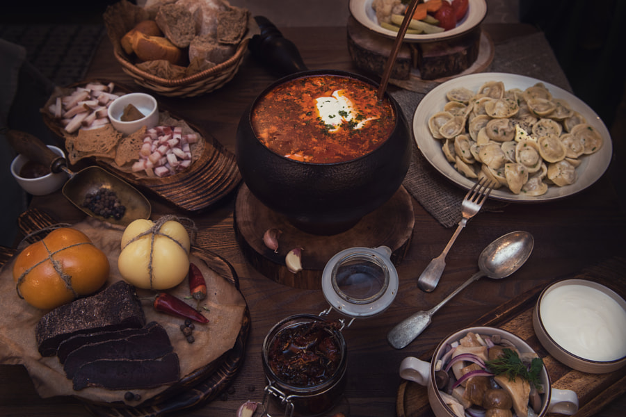 Russian food table by Ruslan Olinchuk on 500px.com