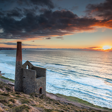 Wheal Coates at sunset