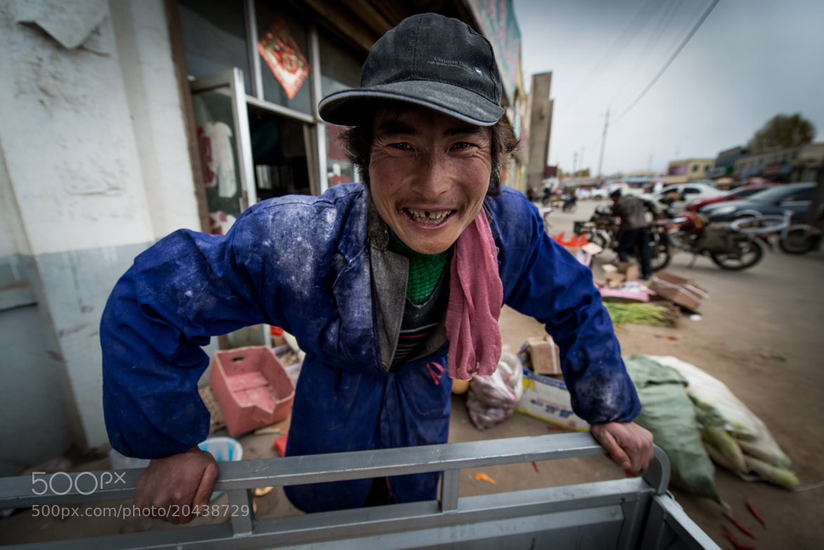 Photograph Happy TIbetan Man by Evgeny Tchebotarev on 500px