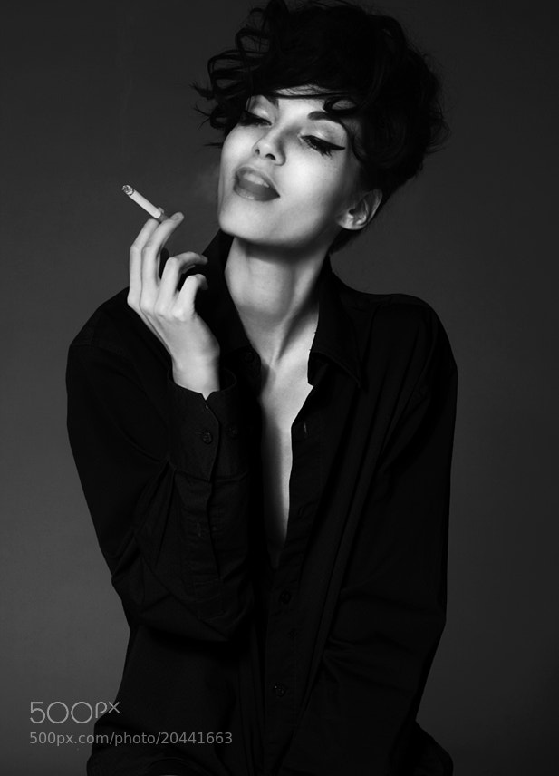 Photograph Kate smoking II by Annet Vice on 500px