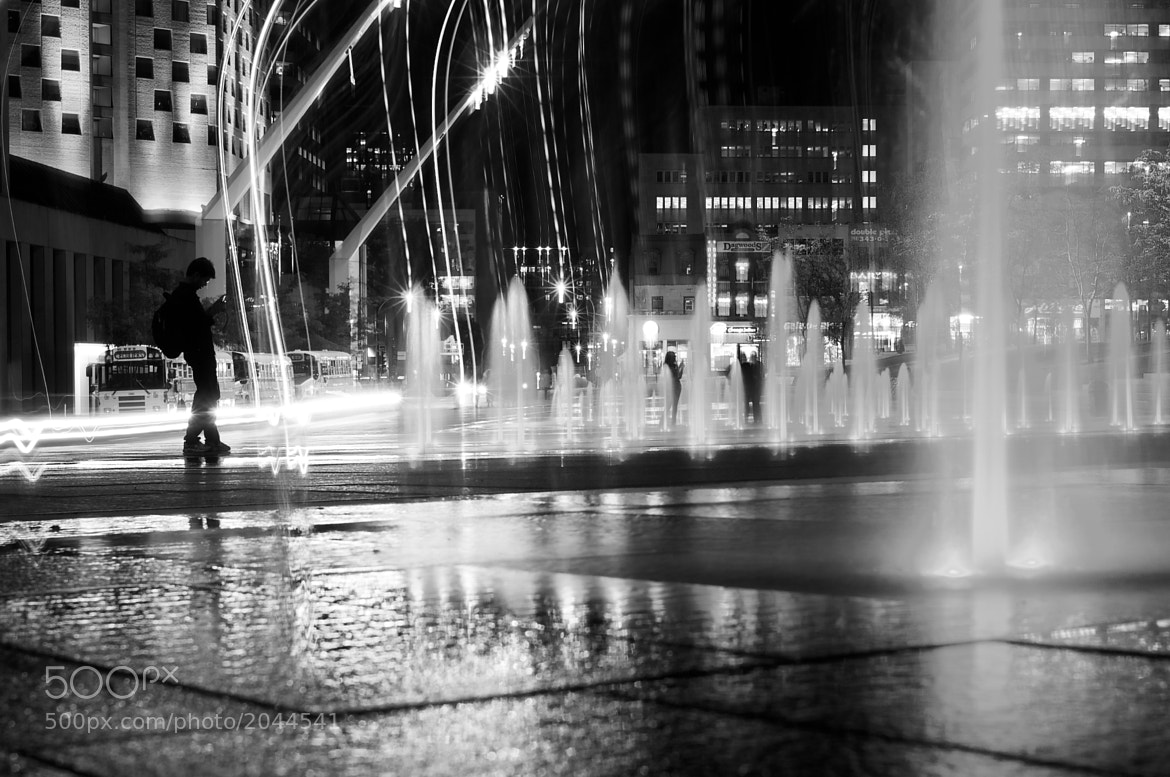 Photograph Silouhette and fountains by Emmanuel Dubois on 500px