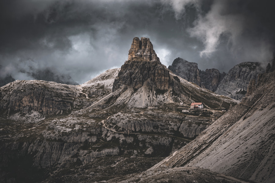 Look on the opposite side of the Tre Cime. by Johannes Hulsch
