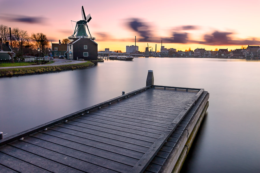 Keep calm & enjoy sunset @ Zaanse