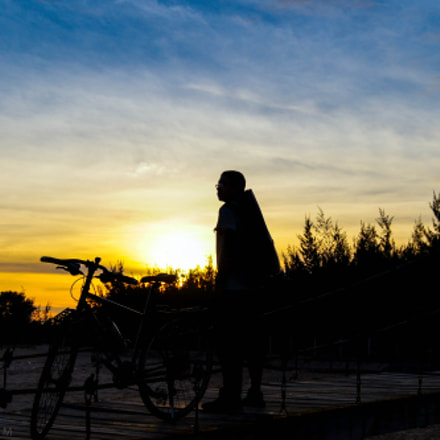 watching the sunset, Sony SLT-A35, DT 18-55mm F3.5-5.6 SAM