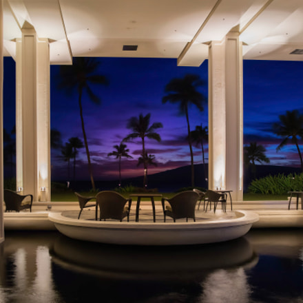 Sunset at luxury resort, Canon EOS 5DS R, Sigma 24-35mm f/2 DG HSM | A