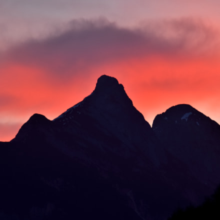 Sunrise in Tyrol, Nikon D7000, Sigma APO 100-300mm F4 EX IF HSM