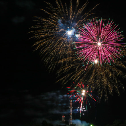 Fireworks, Canon EOS REBEL T6S, Canon EF-S 18-135mm f/3.5-5.6 IS STM