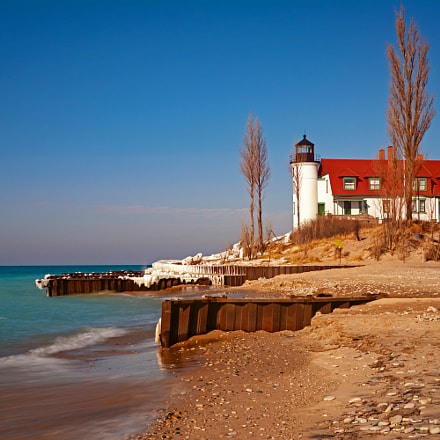 Point Betsie Light, Nikon D7100, AF Zoom-Nikkor 24-120mm f/3.5-5.6D IF