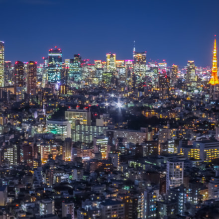 Nightscape of Tokyo Tower, Canon POWERSHOT S120