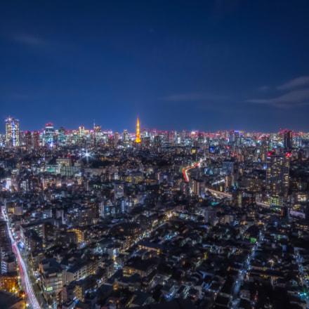Nightscape of Tokyo downtown, Canon POWERSHOT S120