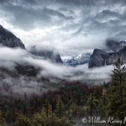 Tunnel View in Fog, Canon EOS 5D MARK III, Canon EF 24-70mm f/2.8L II USM
