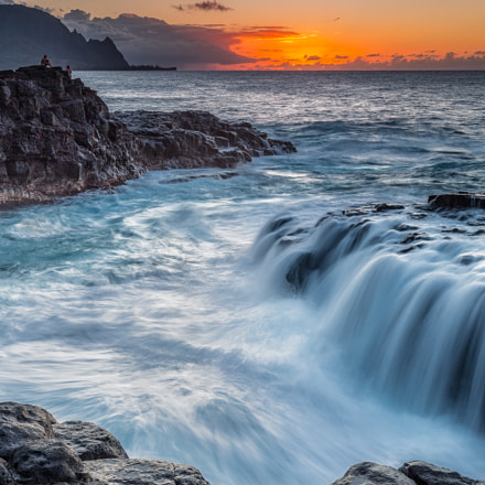 Queen's Bath Sunset 2, Canon EOS 5D MARK III, Canon EF 24-70mm f/2.8L II USM