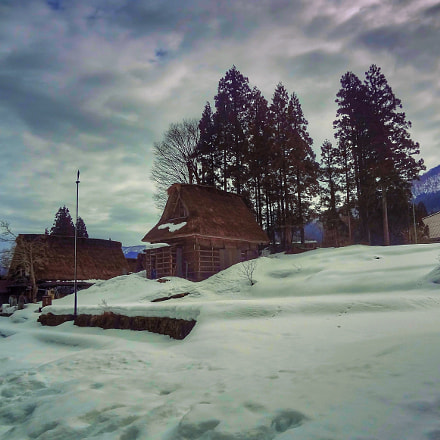 Winter countly town 五箇山..., Sony DSC-WX50