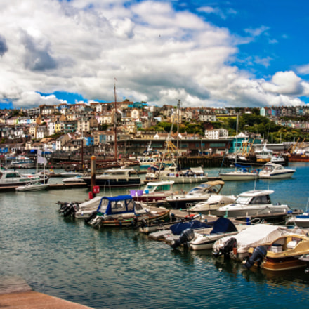 Brixham harbour in July, Canon EOS 400D DIGITAL, Sigma 17-70mm f/2.8-4.5 DC Macro