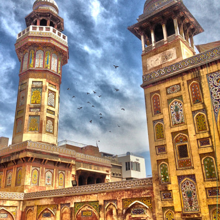 Wazir Khan Mosque, Lahore., Apple iPhone 5, iPhone 5 back camera 4.12mm f/2.4