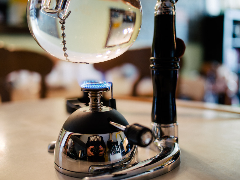Photograph Making Siphon Coffee by Shawn Blanc on 500px