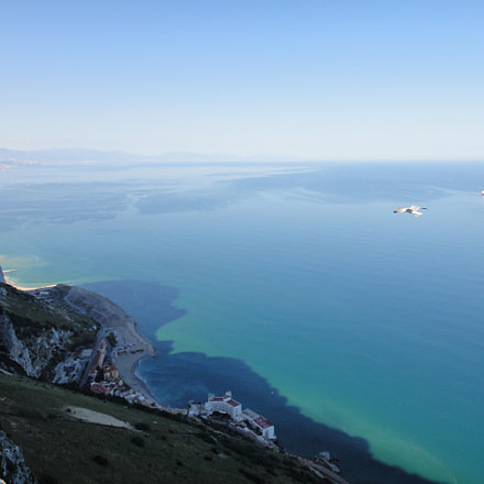 The shadow of Gibraltar, Sony DSC-TX5
