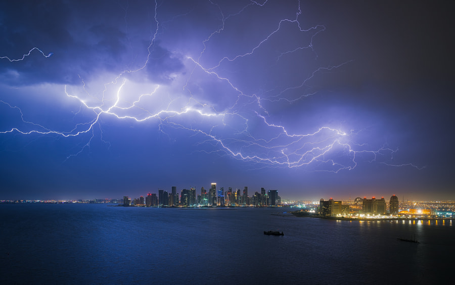 Lightning Storm over Doha